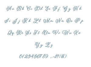 Pomander embroidery font PES format 15 Sizes 0.25 (1/4), 0.5 (1/2), 1, 1.5, 2, 2.5, 3, 3.5, 4, 4.5, 5, 5.5, 6, 6.5, and 7 inches