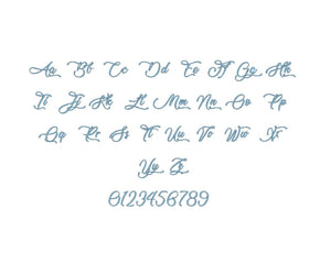 Lovely Home embroidery font PES format 15 Sizes 0.25 (1/4), 0.5 (1/2), 1, 1.5, 2, 2.5, 3, 3.5, 4, 4.5, 5, 5.5, 6, 6.5, and 7 inches