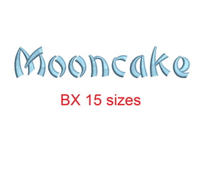 Mooncake embroidery BX font Sizes 0.25 (1/4), 0.50 (1/2), 1, 1.5, 2, 2.5, 3, 3.5, 4, 4.5, 5, 5.5, 6, 6.5, and 7 inches