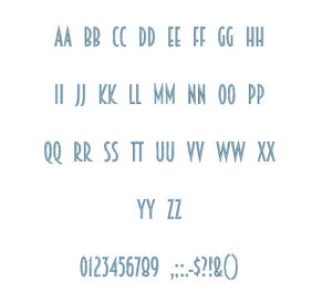 Breamcatcher™ embroidery BX font Sizes 0.25 (1/4), 0.50 (1/2), 1, 1.5, 2, 2.5, 3, 3.5, 4, 4.5, 5, 5.5, 6, 6.5, and 7 inches (RLA)