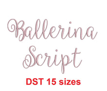 Ballerina Script embroidery font DST format 15 Sizes instant download
