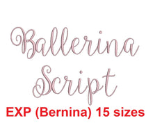 Ballerina Script embroidery font EXP for Bernina format 15 Sizes instant download
