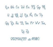 Jandles™ embroidery BX font Sizes 0.25 (1/4), 0.50 (1/2), 1, 1.5, 2, 2.5, 3, 3.5, 4, 4.5, 5, 5.5, 6, 6.5, and 7 inches (RLA)