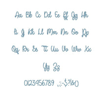 "A Perfect Place embroidery font PES format 15 Sizes 0.25 (1/4), 0.5 (1/2), 1, 1.5, 2, 2.5, 3, 3.5, 4, 4.5, 5, 5.5, 6, 6.5, 7"" (MHA)"