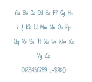 Give You What You Like embroidery BX font Sizes 0.25 (1/4), 0.50 (1/2), 1, 1.5, 2, 2.5, 3, 3.5, 4, 4.5, 5, 5.5, 6, 6.5, 7""