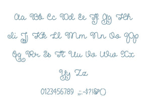 "Pretty Girls embroidery BX font Sizes 0.25 (1/4), 0.50 (1/2), 1, 1.5, 2, 2.5, 3, 3.5, 4, 4.5, 5, 5.5, 6, 6.5, and 7"" (MHA)"