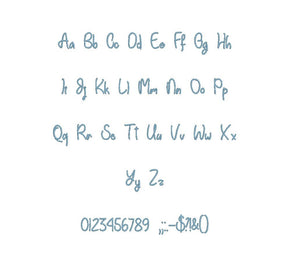 "Einhom Schrift embroidery BX font Sizes 0.25 (1/4), 0.50 (1/2), 1, 1.5, 2, 2.5, 3, 3.5, 4, 4.5, 5, 5.5, 6, 6.5, and 7"" (MHA)"