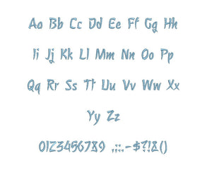 Nagomi™ embroidery BX font Sizes 0.25 (1/4), 0.50 (1/2), 1, 1.5, 2, 2.5, 3, 3.5, 4, 4.5, 5, 5.5, 6, 6.5, and 7 inches (RLA)