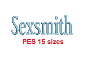 Sexsmith™ embroidery font PES 15 Sizes 0.25 (1/4), 0.5 (1/2), 1, 1.5, 2, 2.5, 3, 3.5, 4, 4.5, 5, 5.5, 6, 6.5, and 7 inches (RLA)