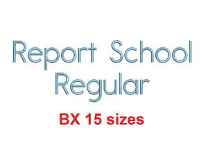 Report School Regular™ BX font Sizes 0.25 (1/4), 0.50 (1/2), 1, 1.5, 2, 2.5, 3, 3.5, 4, 4.5, 5, 5.5, 6, 6.5, and 7 inches (RLA)