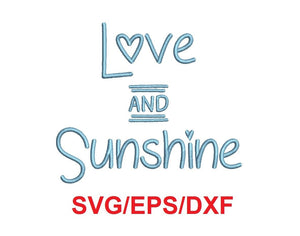 Love and Sunshine alphabet svg/eps/dxf cutting files (MHA)