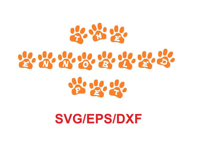 The Ennobled Pet™ alphabet svg/eps/dxf cutting files (RLA)