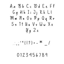 Basically Yes font svg/eps/dxf alphabet cutting files (MHA)