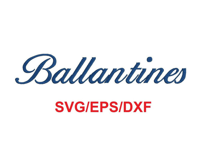 Ballantines alphabet svg/eps/dxf cutting files