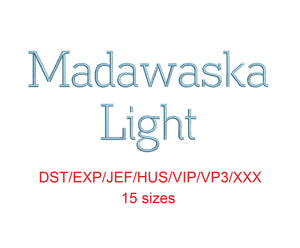 Madawaska™ embroidery font dst/exp/jef/hus/vip/vp3/xxx 15 sizes small to large (RLA)