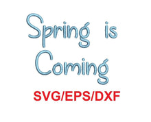 Spring Is Coming alphabet svg/eps/dxf cutting files (MHA)