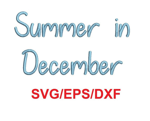 Summer In December alphabet svg/eps/dxf cutting files (MHA)