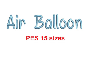 "Air Balloon embroidery font PES format 15 Sizes 0.25 (1/4), 0.5 (1/2), 1, 1.5, 2, 2.5, 3, 3.5, 4, 4.5, 5, 5.5, 6, 6.5, 7"" (MHA)"