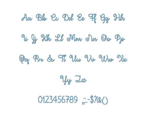 "December Sky embroidery BX font Sizes 0.25 (1/4), 0.50 (1/2), 1, 1.5, 2, 2.5, 3, 3.5, 4, 4.5, 5, 5.5, 6, 6.5, and 7"" (MHA)"