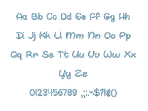 "Oh Whale embroidery font PES format 15 Sizes 0.25 (1/4), 0.5 (1/2), 1, 1.5, 2, 2.5, 3, 3.5, 4, 4.5, 5, 5.5, 6, 6.5, 7"" (MHA)"
