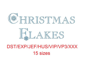 Christmas Flakes dst/exp/jef/hus/vip/vp3/xxx 15 sizes small to large