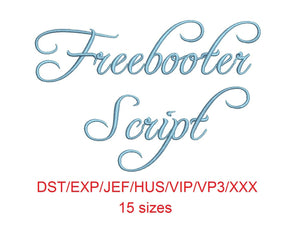 Freebooter Script machine files dst/exp/jef/hus/vip/vp3/xxx 15 sizes small to large
