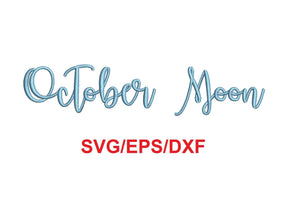 October Moon Script font svg/eps/dxf alphabet cutting files (MHA)