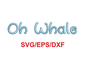 Oh Whale Script font svg/eps/dxf alphabet cutting files (MHA)
