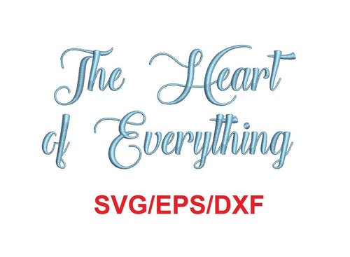 The Heart of Everything font svg/eps/dxf alphabet cutting files (MHA)