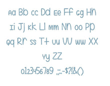 "Even More Mixed Up embroidery BX font Sizes 0.25 (1/4), 0.50 (1/2), 1, 1.5, 2, 2.5, 3, 3.5, 4, 4.5, 5, 5.5, 6, 6.5, and 7"" (MHA)"