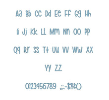 "Hey Pretty Girl embroidery BX font Sizes 0.25 (1/4), 0.50 (1/2), 1, 1.5, 2, 2.5, 3, 3.5, 4, 4.5, 5, 5.5, 6, 6.5, and 7"" (MHA)"
