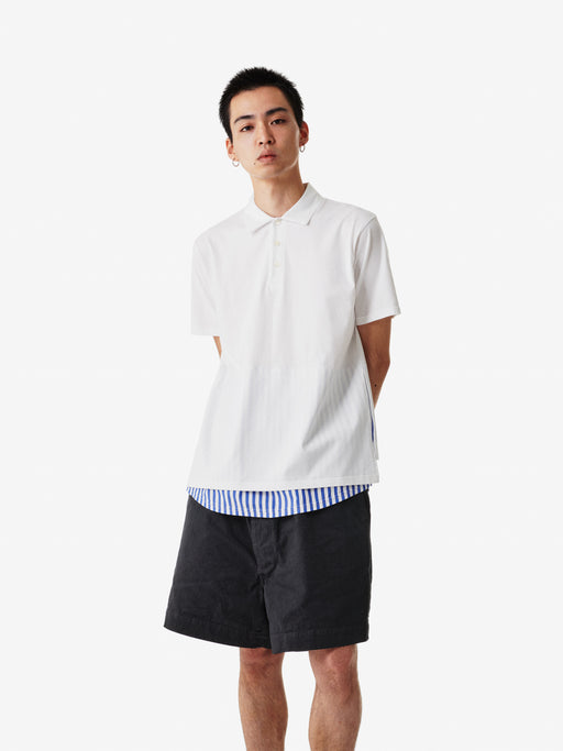 Shirt Fabrics Short Sleeve Layerd Polo Shirt