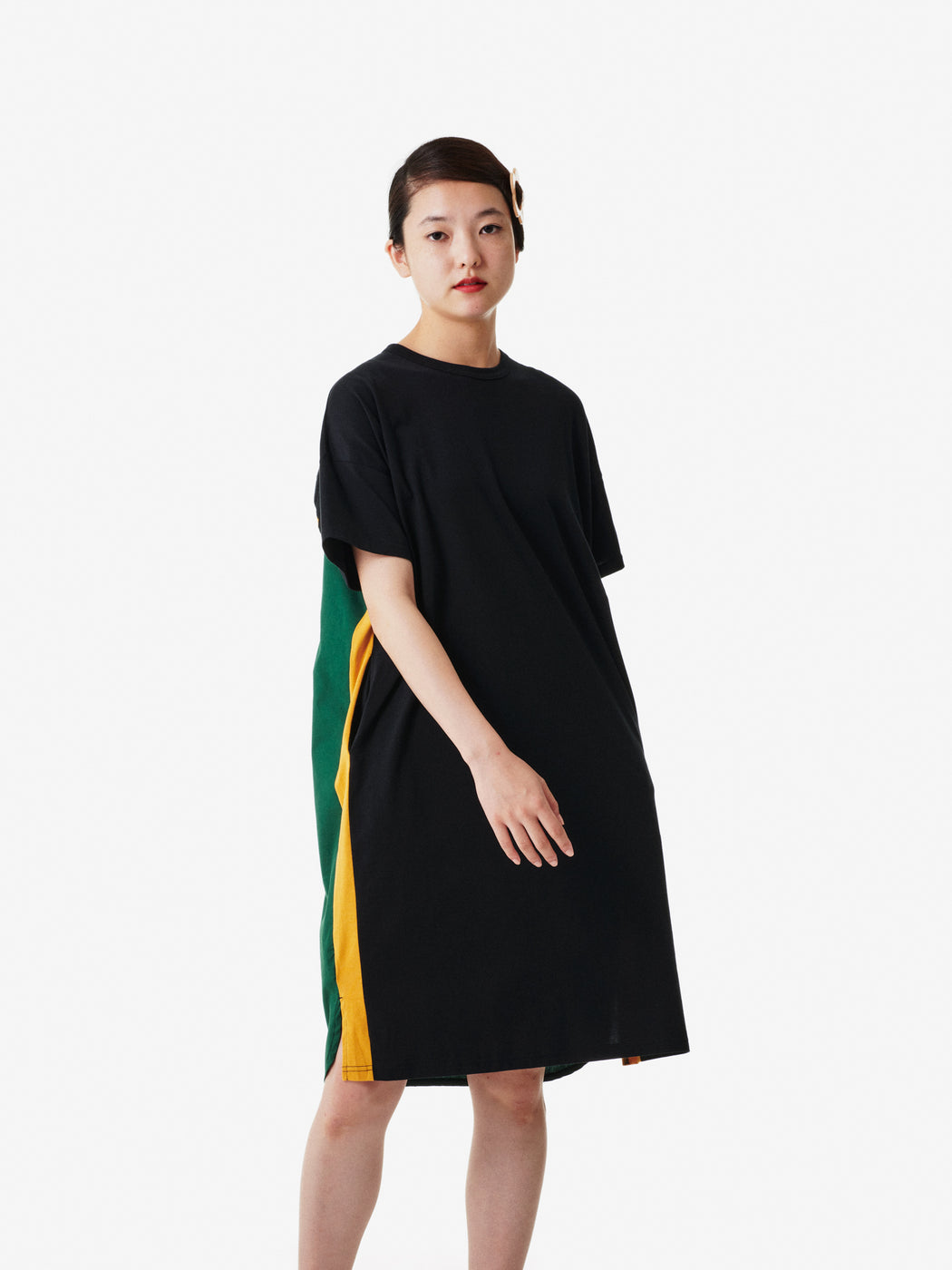 Shirt Fabrics Women's Short Sleeve Wide T-shirt Dress