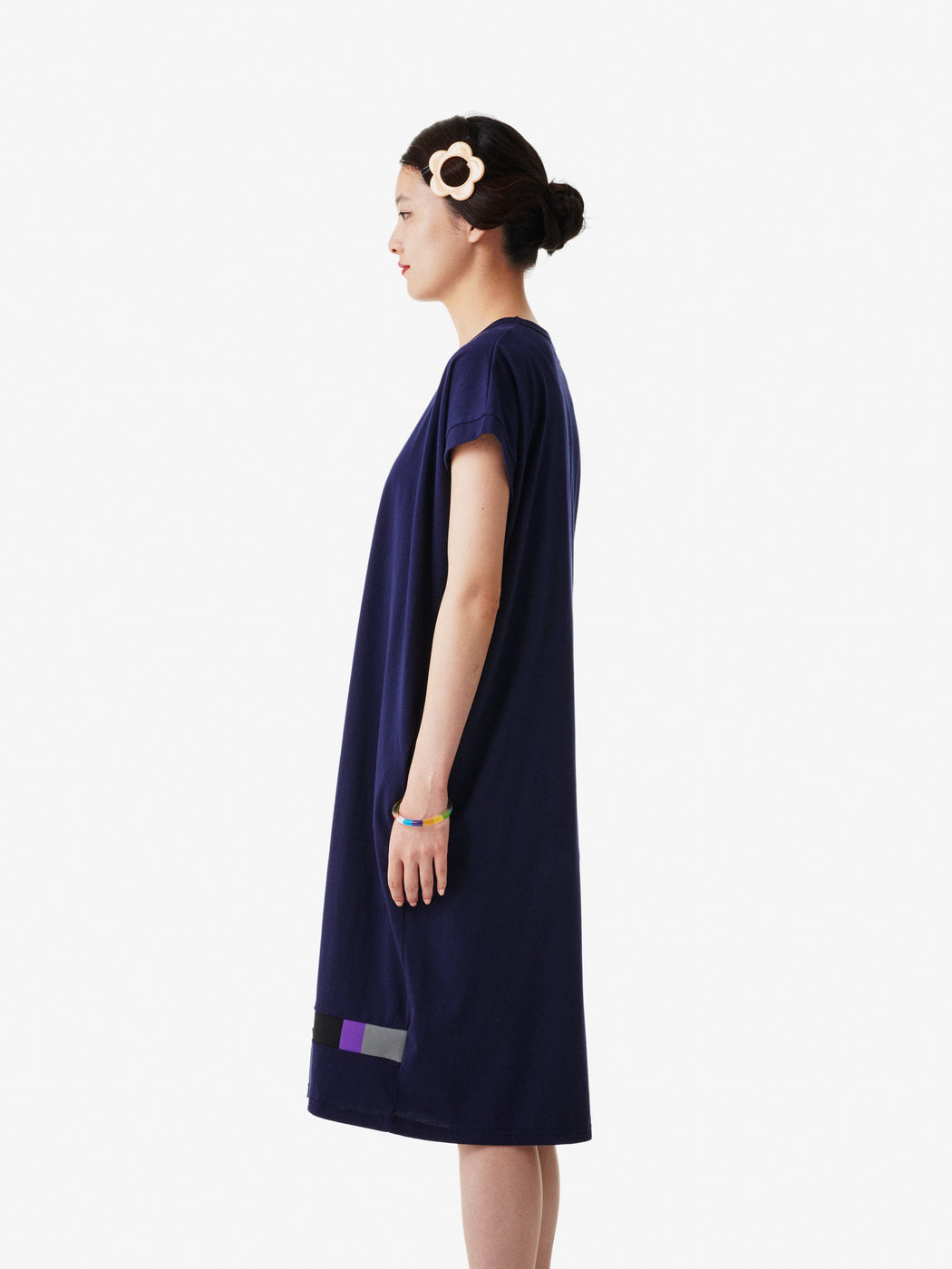 Takahashi Knit Women's Capped Sleeve One-piece Dress