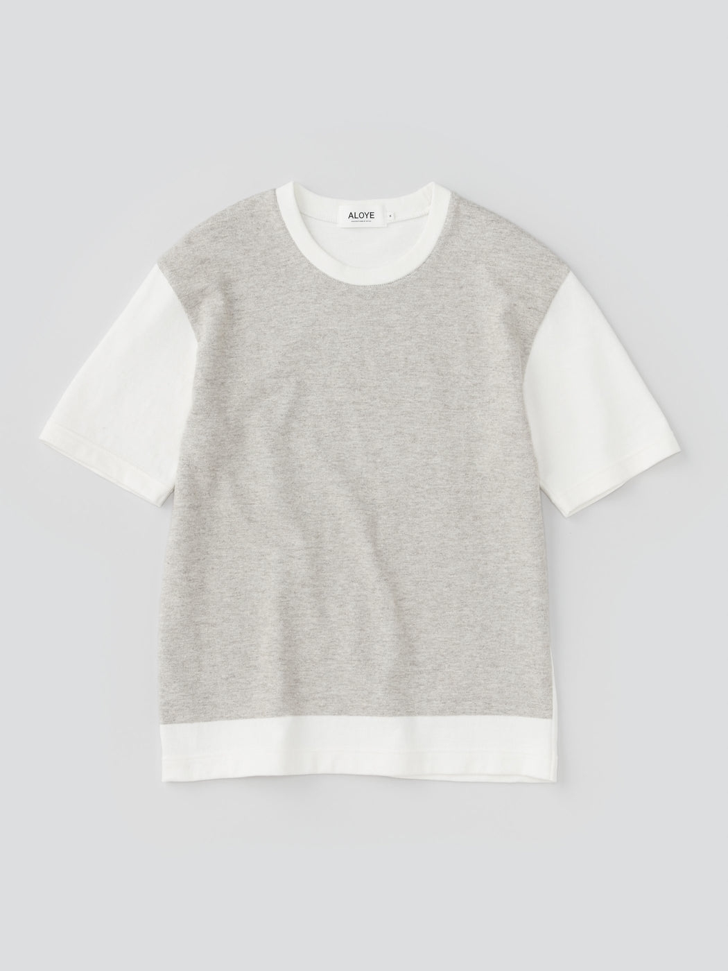 ALOYE G.F.G.S. Men's Cotton Knitted T-shirt Heather Gray-Off White