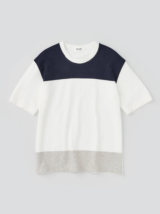 ALOYE G.F.G.S. Men's Cotton Knitted T-shirt Navy-Off White