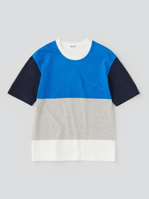 ALOYE G.F.G.S. Men's Cotton Knitted T-shirt Blue-Heather Gray