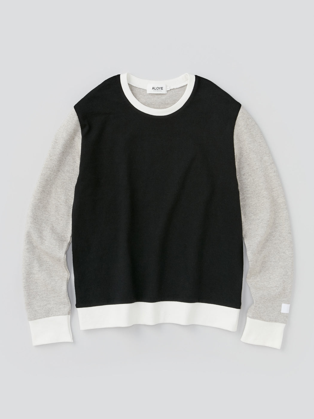 ALOYE G.F.G.S. Men's Cotton Knitted Sweater Black Color Block