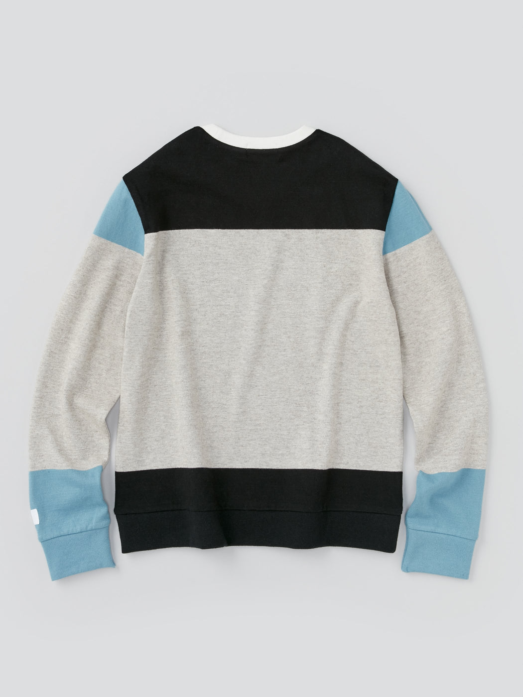 ALOYE G.F.G.S. Men's Cotton Knitted Sweater Black and Heather Gray Color Block