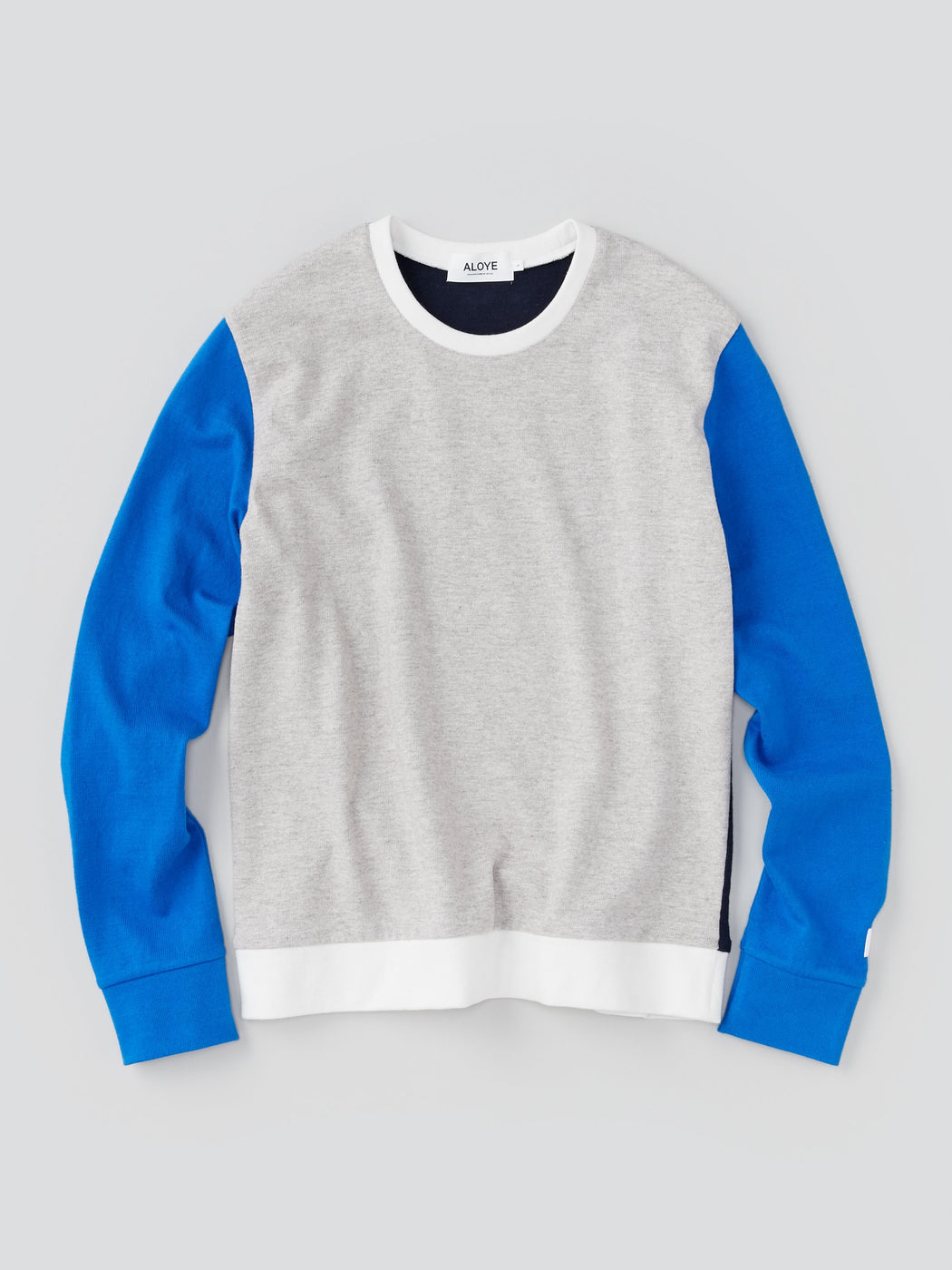ALOYE G.F.G.S. Men's Cotton Knitted Sweater Heather Gray and Blue