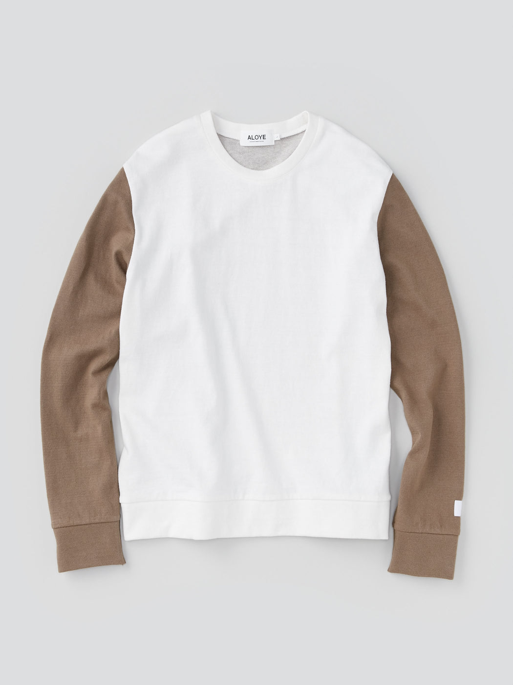 ALOYE G.F.G.S. Men's Cotton Knitted Sweater Off white and Khaki