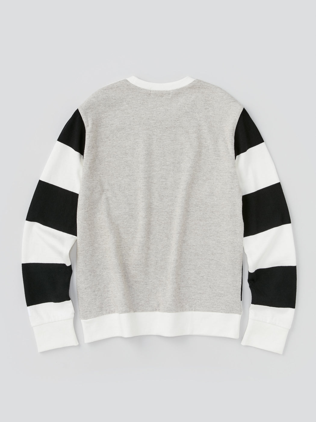 ALOYE G.F.G.S. Men's Cotton Knitted Sweater Black and White Gray Color Block