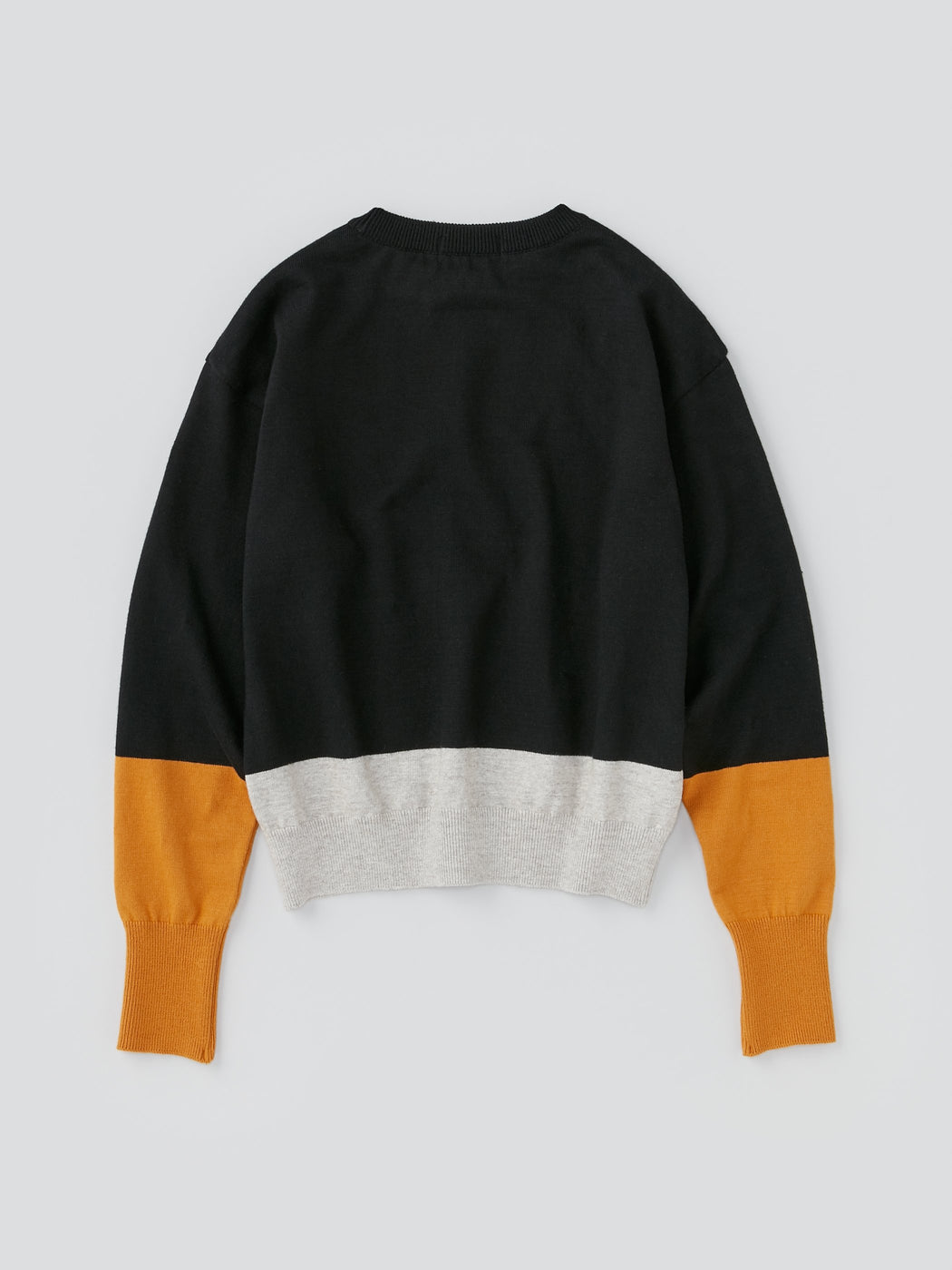 ALOYE G.F.G.S. Women's Cotton Knitted Wide Sweater Black Color Block
