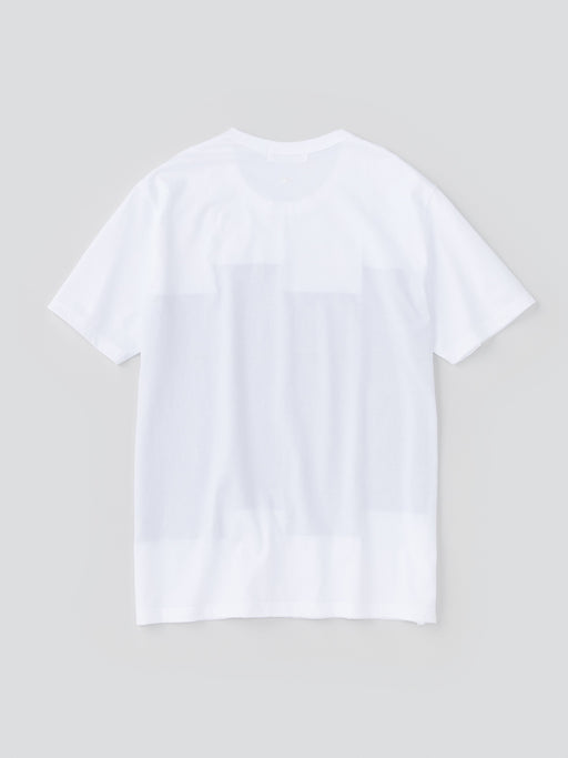 ALOYE Color Blocks Men's Short Sleeve T-shirt White-Black Rectangles