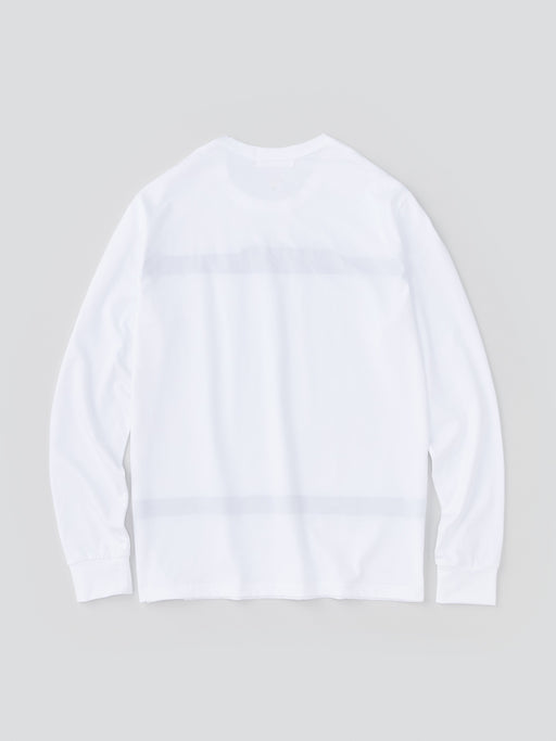 ALOYE Color Blocks Men's Long Sleeve T-shirt White-Black Color Block