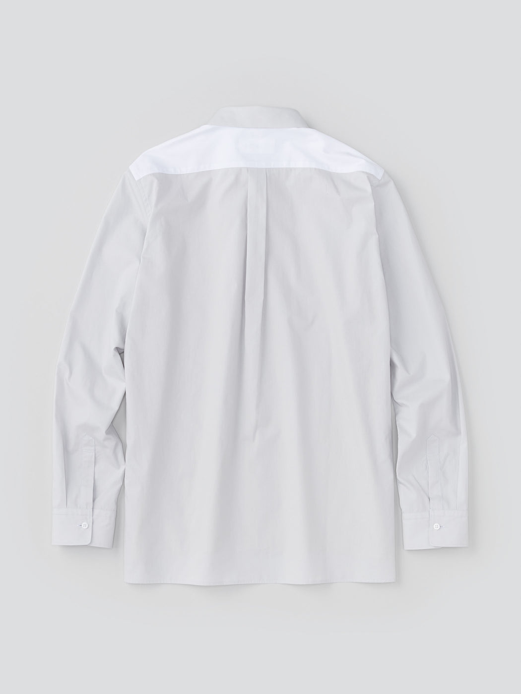 ALOYE Color Blocks Men's Long Sleeve Shirt Off white-Orange