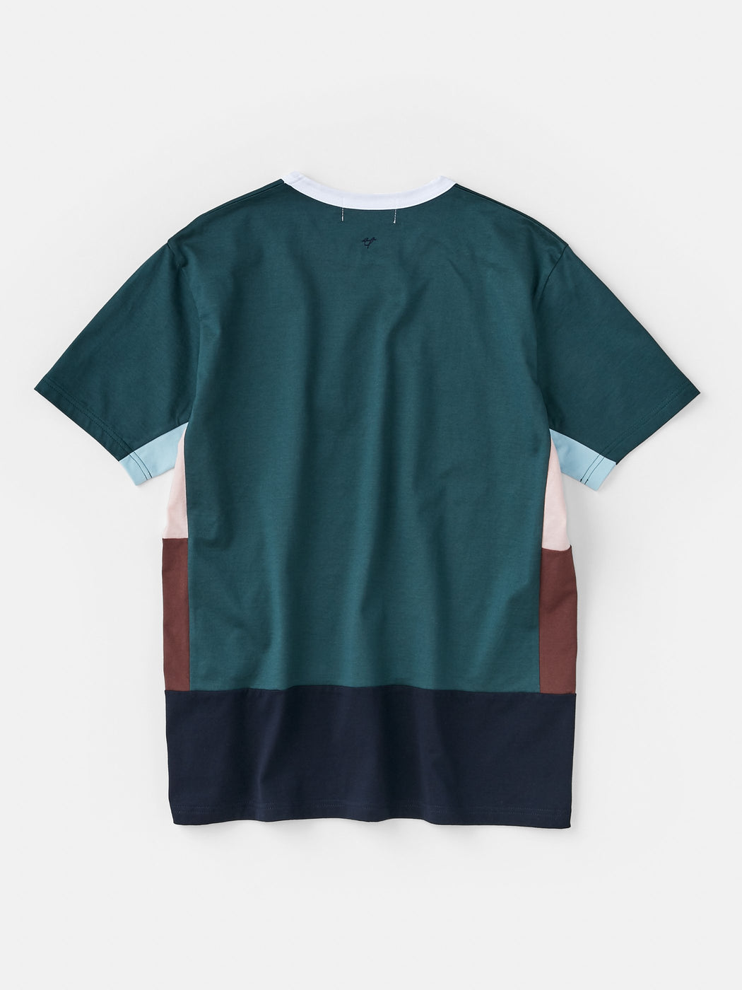 ALOYE Color Blocks Men's Short Sleeve T-shirt Heather Gray-green