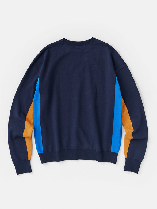 ALOYE G.F.G.S. Men's Cotton Knitted Sweater Navy-Blue