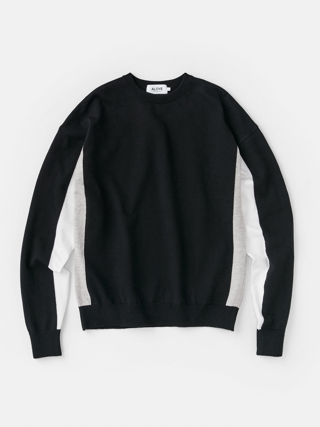 ALOYE G.F.G.S. Men's Cotton Knitted Sweater Black-Heather Gray