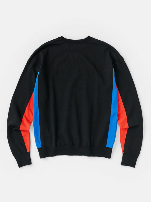 ALOYE G.F.G.S. Men's Cotton Knitted Sweater Black-Blue